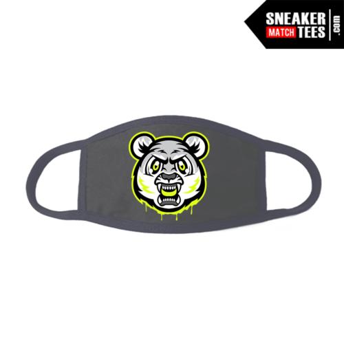 Face Mask Grey Neon 4s Tiger Gang