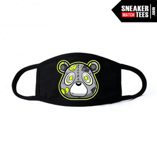 Face mask black Neon 4s Heartless Bear