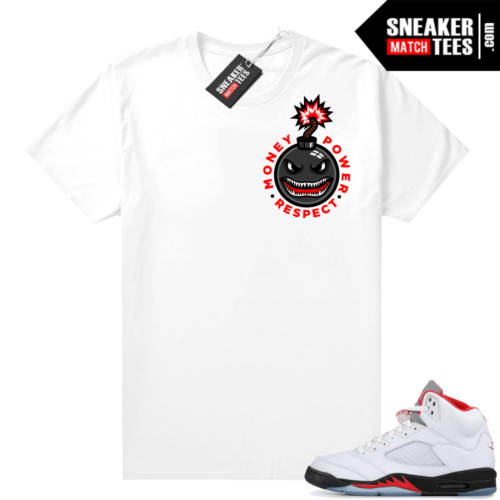 Fire Red 5s Jordan Graphic Tee MPR Bomb