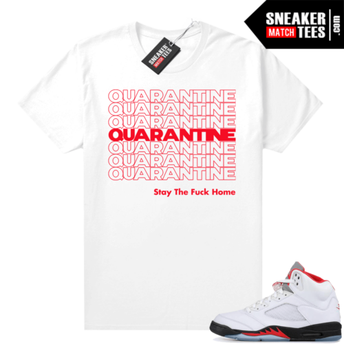 Fire Red 5s Jordan Graphic Tee Quarantine