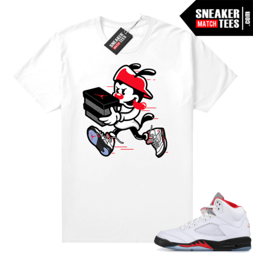 Fire Red 5s Jordan Graphic Tees Double Up