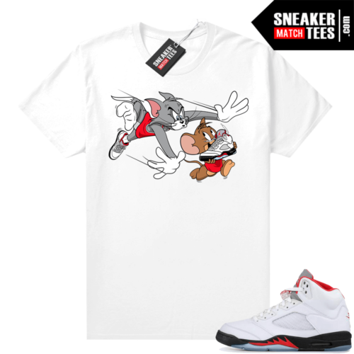 Fire Red 5s Jordan Graphic Tees Finesse