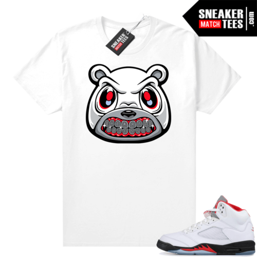 Fire Red 5s Jordan Graphic Tees Heartless Bear Grill