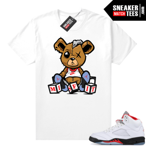 Fire Red 5s Jordan Graphic Tees Misfit Teddy