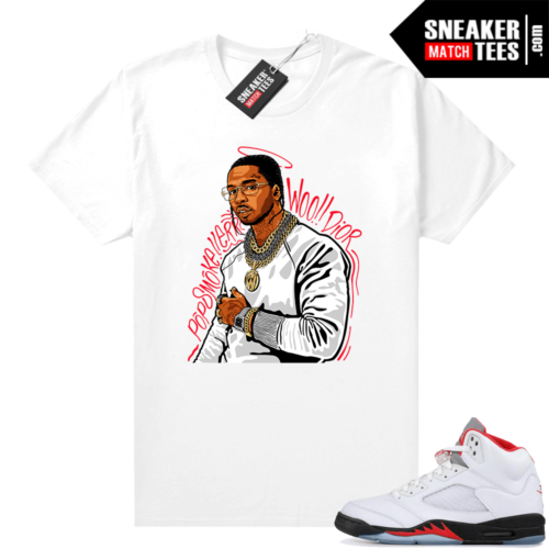 Fire Red 5s Jordan Graphic Tees Pop Smoke Tribute