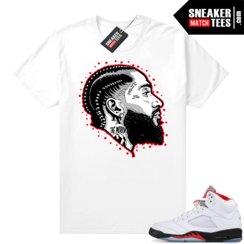 Fire Red 5s Jordan Graphic Tees Prolific