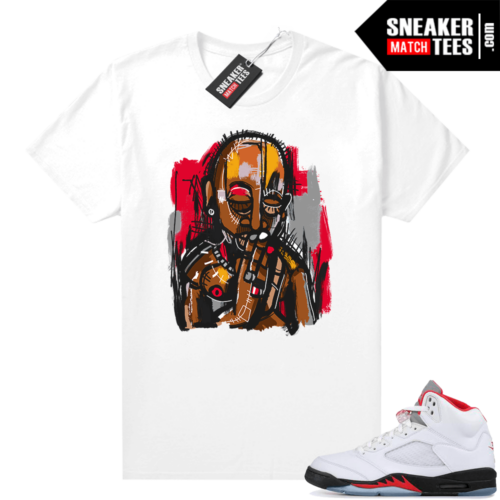 Fire Red 5s Jordan Sneaker Tees Abstract Pac