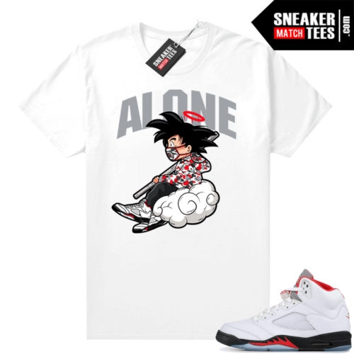 Fire Red 5s Jordan Sneaker Tees Alone
