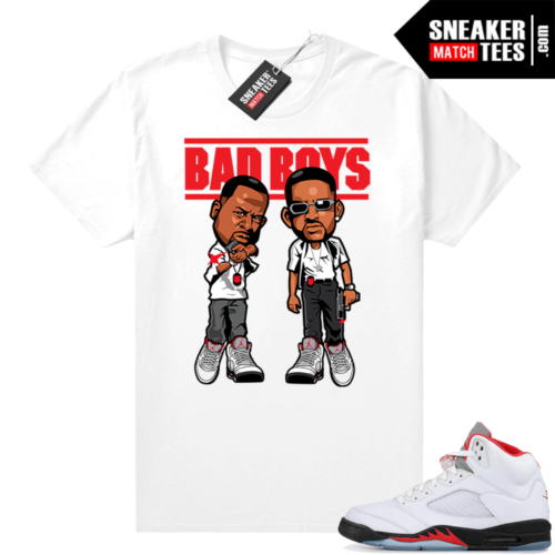 Fire Red 5s Jordan Sneaker Tees Bad Boys