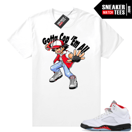 Fire Red 5s Jordan Sneaker Tees Cop Em All