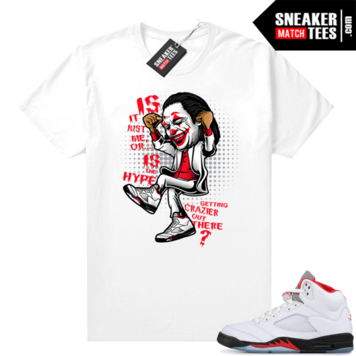 Fire Red 5s Jordan Sneaker Tees Crazy Hype