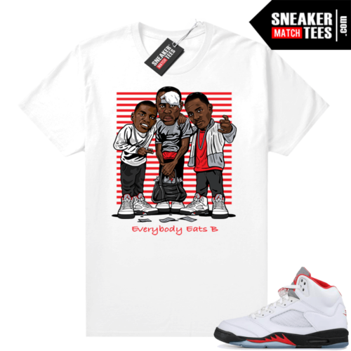 Fire Red 5s Jordan Sneaker Tees Everybody Eats B