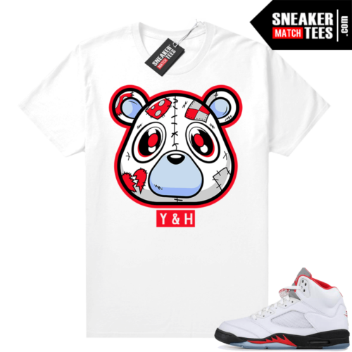 Fire Red 5s Jordan Sneaker Tees Heartless Bear