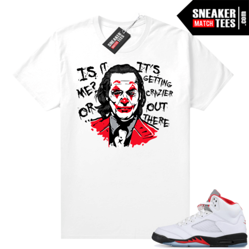 Fire Red 5s Jordan Sneaker Tees Joker