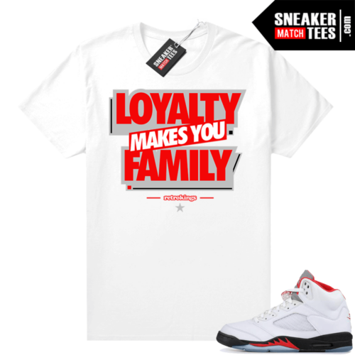 Fire Red 5s Jordan Sneaker Tees Loyalty