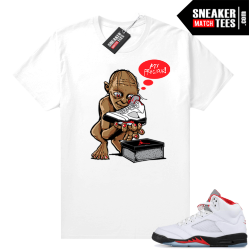 Fire Red 5s Jordan Sneaker Tees My Precious