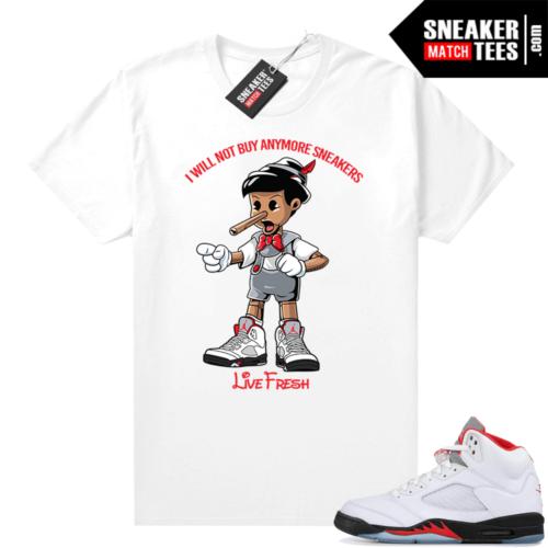 Fire Red 5s Jordan Sneaker Tees Sneakerhead Pinocchio