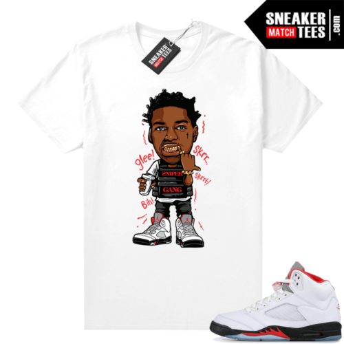Fire Red 5s Jordan Sneaker shirts Kodak Glee