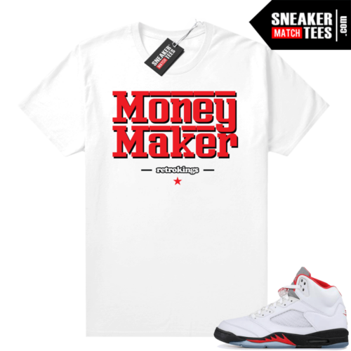 Fire Red 5s Jordan shirt match Money Maker