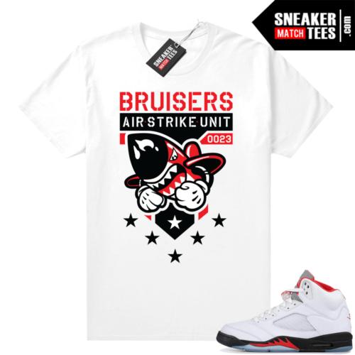 Fire Red 5s Jordan sneaker tees Bruiser Air Strike