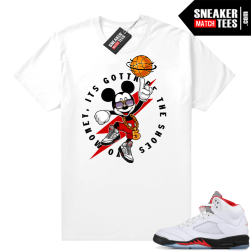 Fire Red 5s Jordan sneaker tees Gotta Be the Shoes