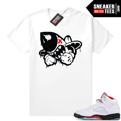 Fire Red 5s matching shirts Bruiser Drip