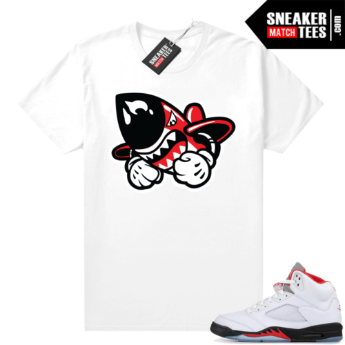 Fire Red 5s sneaker match tees Bruiser Logo