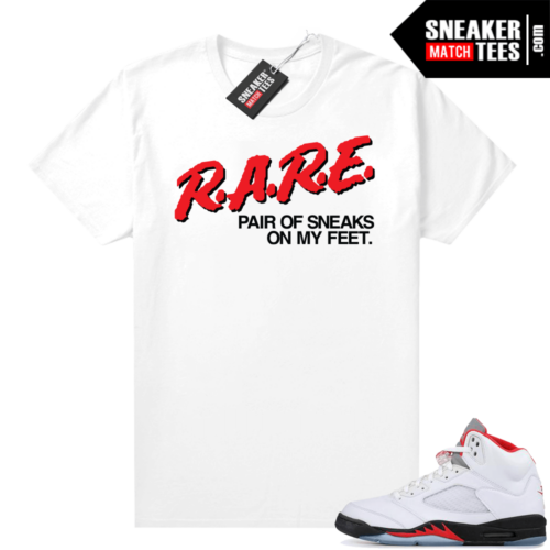 Fire Red 5s sneaker shirts Rare Pair