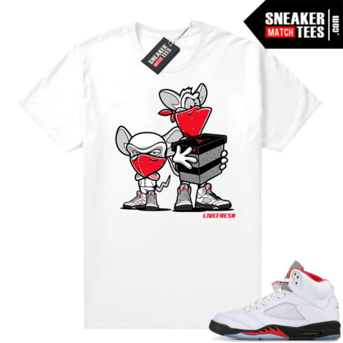 Fire Red Jordan 5 Graphic Tees Sneaker Heist