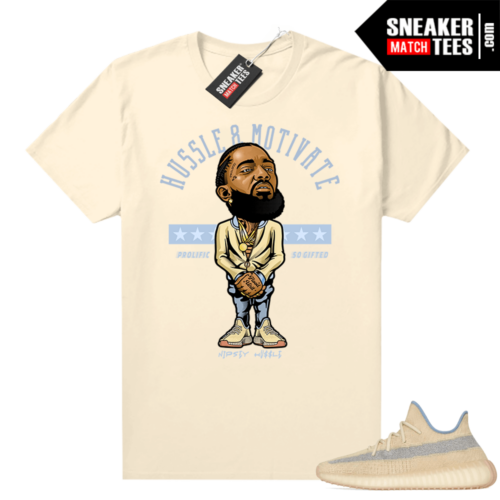 Yeezy Boost 350 Linen graphic T-shirt Hussle Motivate