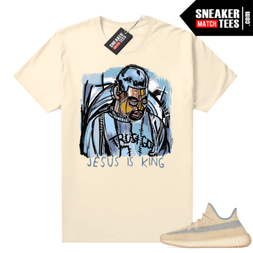 Yeezy Boost 350 V2 Linen shirt Abstract Ye