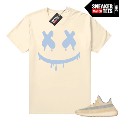 Yeezy Boost 350 V2 Linen shirt Smiley Drip