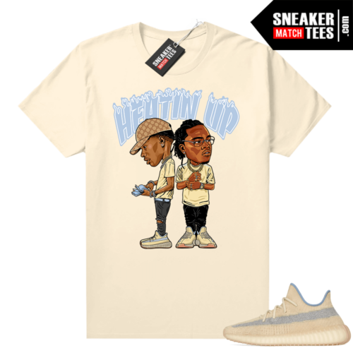 Yeezy Linen 350 V2 Graphic t-shirt Heatin Up