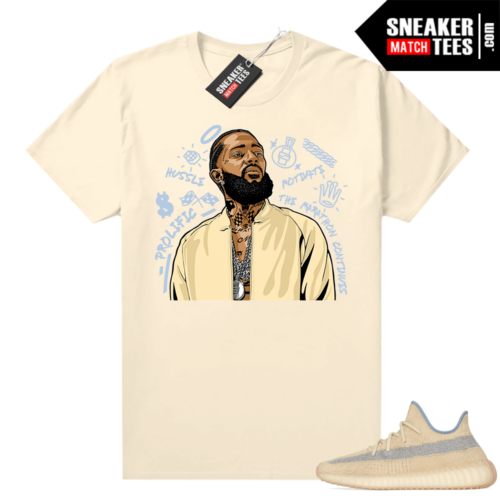Yeezy V2 Linen graphic T-shirt Nipsey Tribute
