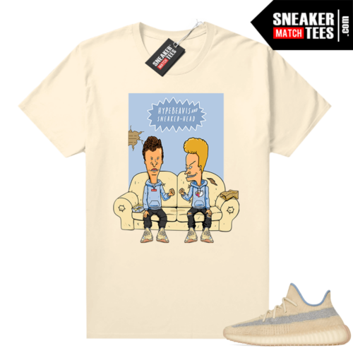 Yeezy match tees Linen 350 Hype Beavis and Sneakerhead