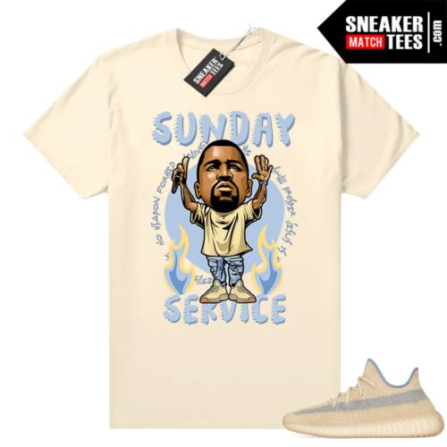 Yeezy shirt Linen 350 V2 match Ye Sunday Service