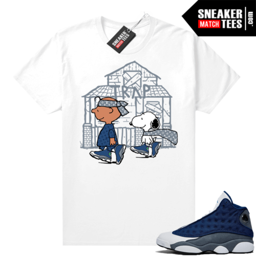 Air Jordan 13 Flint Shirts Snoopy Trap House