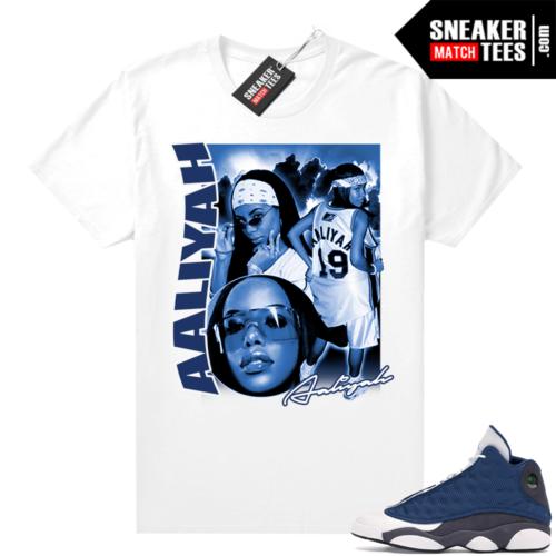 Air Jordan 13 retro Flint shirt Aliyah Vintage Style Rap Tee