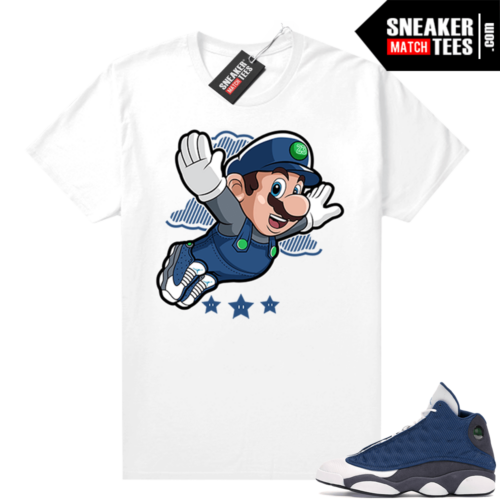 Air Jordan 13 retro Flint shirt Fly Mario