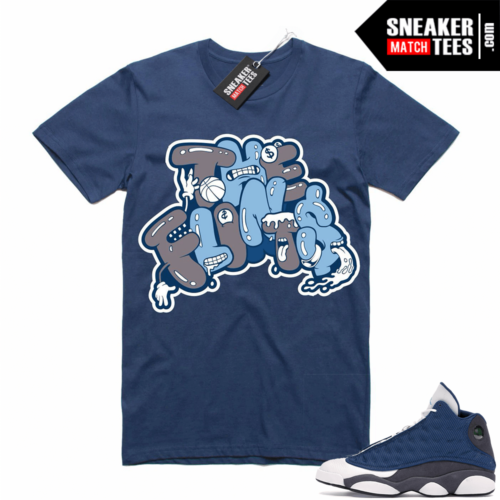 Air Jordan 13 retro Flint shirt Navy The Flints
