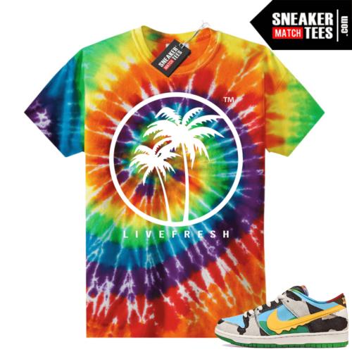 Chunky Dunky Nike Dunks Tie-Dye Shirts Live Fresh Palm Logo