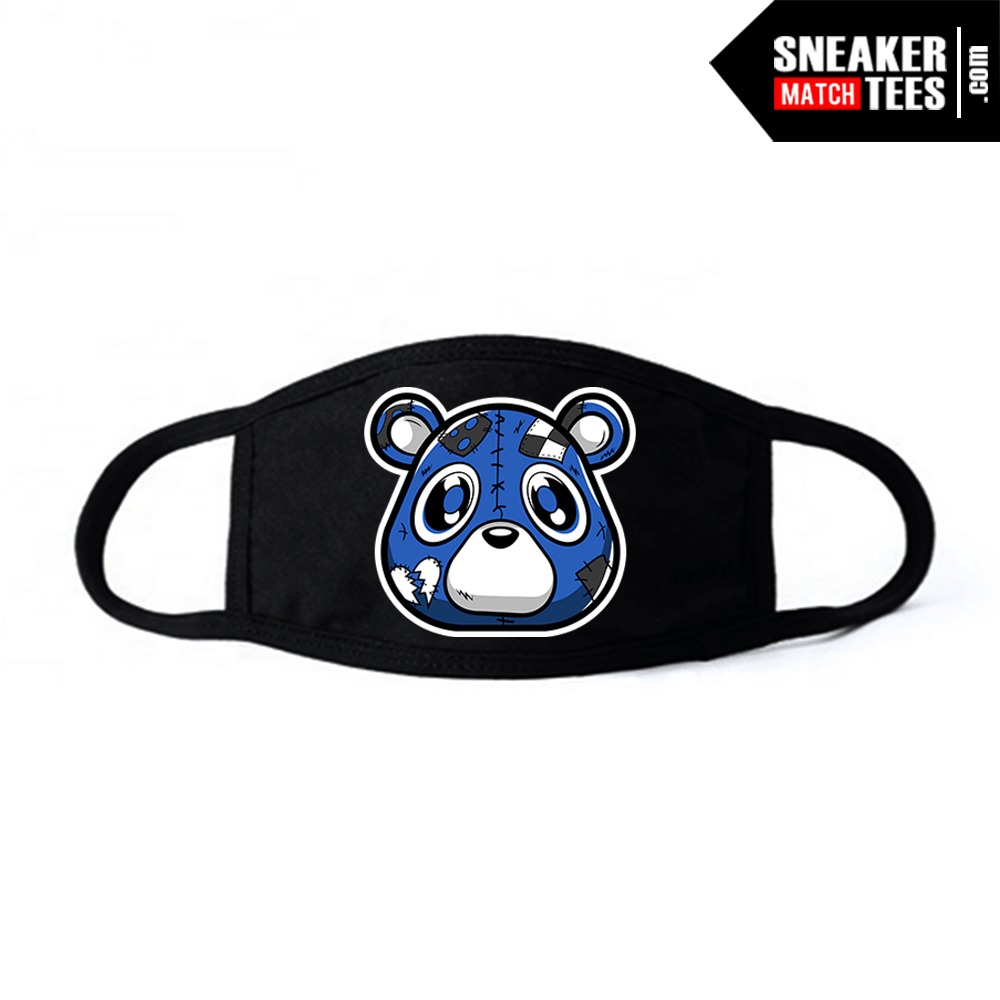 Face Mask Black Royal Toe 1s Heartless Bear