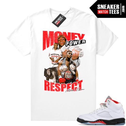 Fire Red 5s Jordan Sneaker Tees Tyson MPR