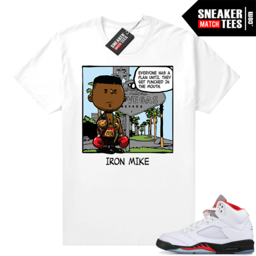 Fire Red 5s shirt PNUTS Tyson