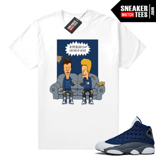 Flint 13s Graphic Tees Hype Beavis and Sneaker-head