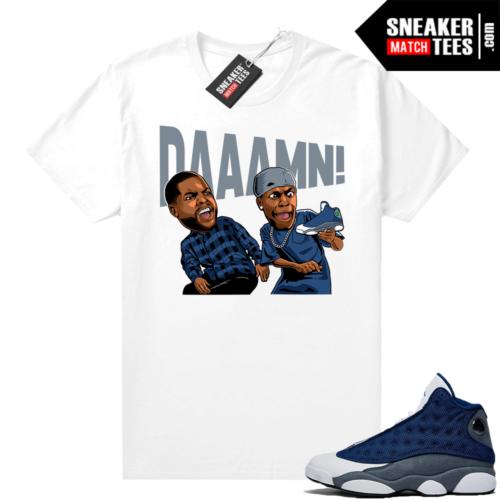 Flint 13s Jordan sneaker tees DAAAMN