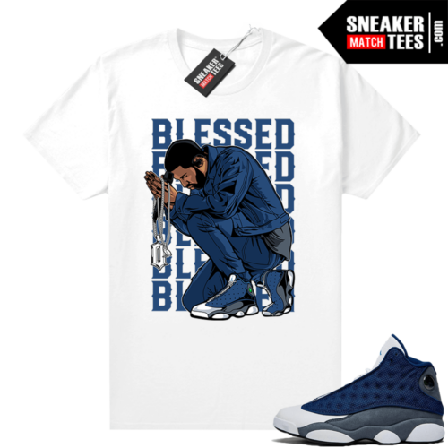 Flint 13s Sneaker tees Blessed
