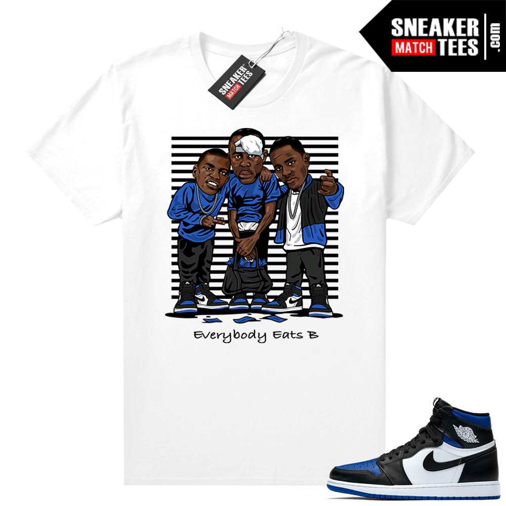 Royal Toe 1s graphic tees Everybody Eats B