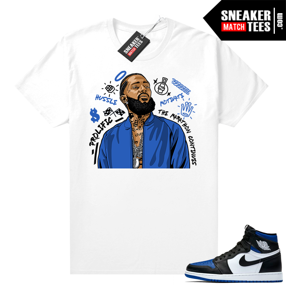 Royal Toe 1s graphic tees Nipsey Tribute