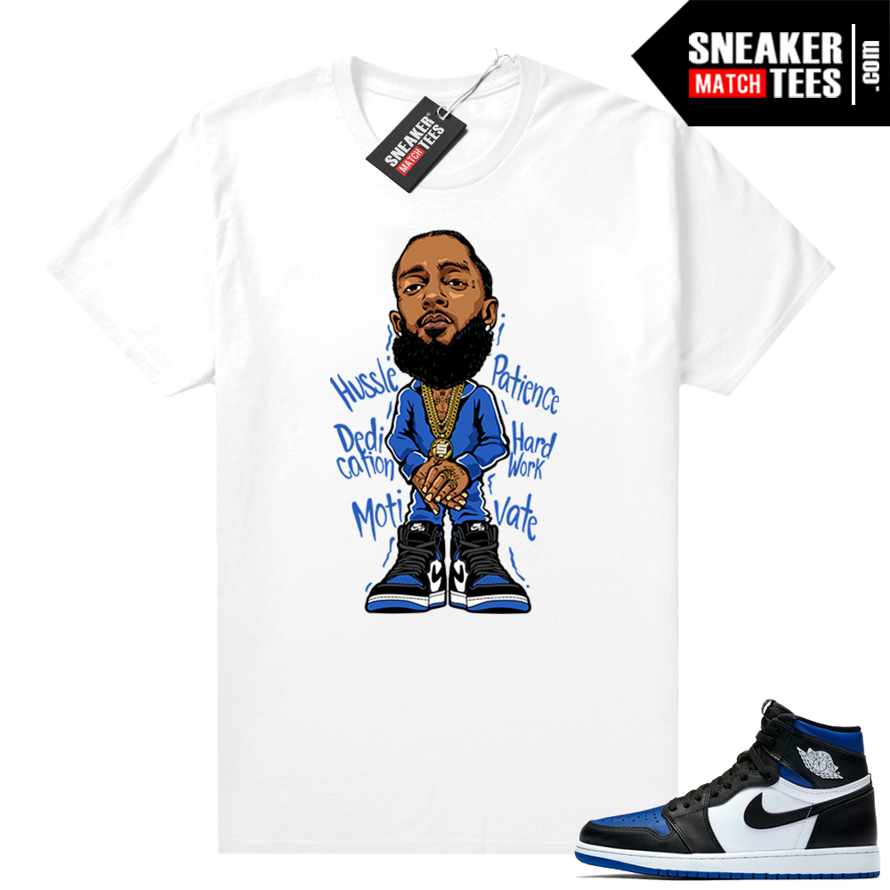Royal Toe 1s graphic tees Nispey Hussle Toon